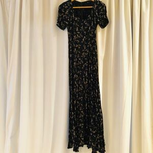 Long maxi printed dress by Reformation